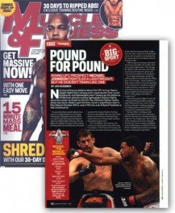 "MTS client, Michael ""The Menace"" Johnson, featured in the June 2012 edition of Muscle and Fitness Magazine"